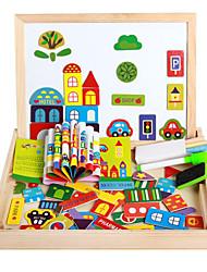 Недорогие -новый магнитный dpell dpell радость, vhildren-х eooden головоломки, детские образовательные обучающие игрушки-счастливая ферма