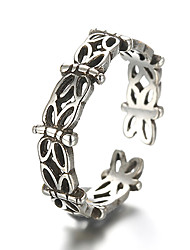 cheap -Sterling Silver Silver Band Ring - Vintage Punk For Daily Casual