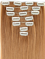 cheap -24 Inch 7pcs/set Long Synthetic Straight Clip In Hair Extensions with 16 Clips - 16 Colors Available