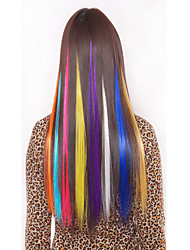 Недорогие -Synthetische красочный клип в наращивание волос 1 зажим 5color