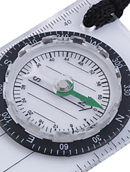 cheap -Mini Baseplate Compass Map Scale Ruler Outdoor Camping Hiking Cycling Scouts Military Compass