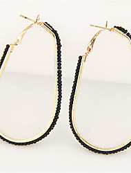 cheap -Women's Drop Earrings Hoop Earrings - Cute Party Work Casual Fashion White Black Blue Pink Golden Circle Drop Earrings For Party Daily