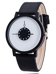 Women/Men's Leather Band Analog White Case  Wrist Watch Jewelry Fashion Watch Cool Watches Unique Watches