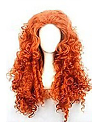 cheap -Synthetic Wig Curly Asymmetrical Haircut Synthetic Hair Natural Hairline Red Wig Women's Long Capless