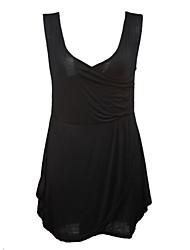 cheap -Women's Black/Wine Sexy Dress, V Neck