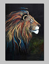 cheap -Large Hand Painted Modern Abstract Lion Animal Oil Painting On Canvas Wall Art Picture With Frame Ready To Hang