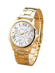 cheap -Women's Quartz Wrist Watch Casual Watch Stainless Steel Band Charm Fashion Gold