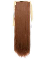 24 pouces Auburn A Clipser Droite Queue-de-cheval Fibre synthétique Pièce de cheveux Extension des cheveux