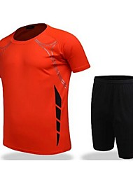 abordables -Homme Football Shirt + Shorts Ensemble de Vêtements/Tenus Respirable Séchage rapide Printemps Eté Automne Hiver Classique Térylène