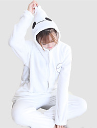 preiswerte -Kigurumi Pyjama Karton Weiß Max Einteiler Pyjamas Kostüm Korallenfleece Weiß Cosplay Für Erwachsene Tiernachtwäsche Karikatur Halloween