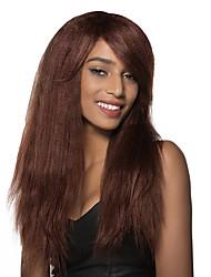 Недорогие -стильный супер длинные свободные волны парик человеческих волос