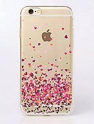 Pour iPhone X iPhone 8 iPhone 7 iPhone 7 Plus iPhone 6 iPhone 6 Plus Etuis coque Ultrafine Transparente Motif Coque Arrière Coque Cœur