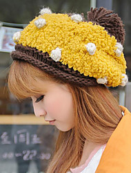 cheap -Women Fall And Winter Warm Wool Polka Dot Fashion Cake Shape Knit Hat