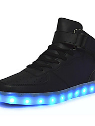 LED Light Up Shoes, Women's Shoes Synthetic Flat Heel Bootie Boots / Fashion Sneakers Outdoor / Casual Black / Red / White