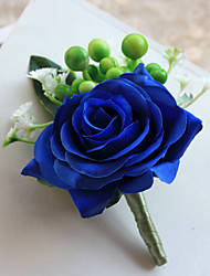 cheap -Wedding Flowers Free-form Simple Handmade Roses Grooms Boutonnieres