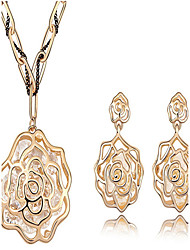 Ensemble de bijoux Cristal Cristal Pierres de naissance Argent Doré Nuptiales Parures Mariage Soirée 1setColliers décoratifs Boucles
