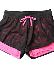 cheap -Women's Running Shorts Quick Dry Breathable Soft smooth Shorts Bottoms Exercise & Fitness Running Polyester Rose Red Sky Blue Green