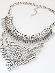 cheap -Women's Rhinestone Collar Necklace Statement Necklace  -  Luxury Vintage Party Silver Golden Necklace For Party Daily Casual