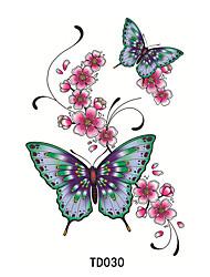 Недорогие -Временные тату Временные татуировки Ар деко/ретро Водонепроницаемый / 3D Искусство тела Лицо / руки / рука