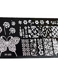 1pcs  New Nail Art Stamping Plates  DIY Geometric Image Templates Tools Nail Beauty XY-J03
