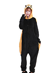 Kigurumi Pajamas Bear Raccoon Costume Brown Coral fleece Kigurumi Leotard / Onesie Cosplay Festival / Holiday Animal Sleepwear Halloween