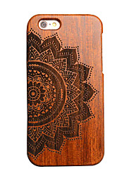 Para Funda iPhone 6 Funda iPhone 6 Plus Carcasa Funda En Relieve Cubierta Trasera Funda Fibra de Madera Dura Madera para AppleiPhone 6s