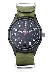 baratos -Homens Relógio Militar / Relógio de Pulso Impermeável Tecido Banda Amuleto Preta / Verde / SODA AG4