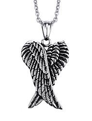 Недорогие -Муж. Ожерелья с подвесками / Кулоны - Нержавеющая сталь Панк, европейский Серебряный Ожерелье Бижутерия Назначение Повседневные