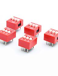 preiswerte -DIY 3-polig 2-Position 6-Pin-DIP-Schalter (5-Stück-Packung)