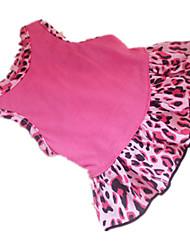 Недорогие -Собака Платья Одежда для собак С сердцем Животное Бледно-розовый цвет Костюм Для домашних животных