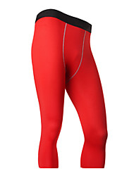 Men's Running Pants Quick Dry Breathable 3/4 Tights Leggings Bottoms for Exercise & Fitness Running Black Gray Red Green Blue S M L XL XXL