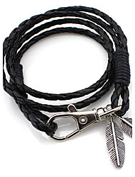 cheap -MOGE New Fashion Alloy / Leather Bracelet / Cool / Party / Leisure / Sports