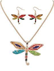 ieftine -Seturi de bijuterii Colier / cercei La modă Cute Stil European Argintiu Auriu Coliere Σκουλαρίκια Pentru Petrecere Zilnic Casual 1set