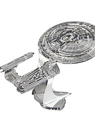 cheap -Star Enterprise 3D Puzzles Jigsaw Puzzle Metal Puzzles Model Building Kit Spacecraft 3D Metal Alloy Metal Gift