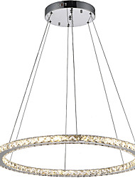 cheap -Round Ring LED Crystal Pendant Light Ceiling Chandeliers Lighting Lamp Fixtures for Indoor Hotel Home Bar CE FCC ROHS