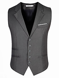 cheap -Men's Cotton Slim Vest - Solid Colored, Modern Style