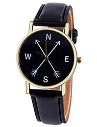 cheap -Women's Fashion Watch Quartz Hot Sale Leather Band Charm Black White Brown Green Pink