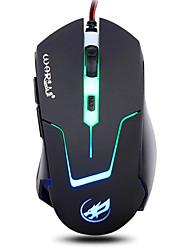 lupo guerra mouse da gioco luce 2400dpi retroilluminato respirazione cablata 6d per lol / cf / DOTA