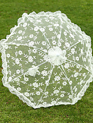 White Lace Wedding Unmbrellas for Bridal Parasols Wedding Accessories