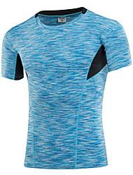 baratos -Homens Camiseta de Corrida - Amarelo, Vermelho, Azul Esportes Camiseta / Blusas Roupas Esportivas Secagem Rápida, Vestível, Respirável