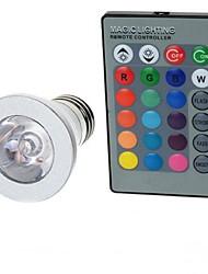baratos -100-200 lm E26 / E27 Lâmpada Redonda LED A50 1 Contas LED LED de Alta Potência Controle Remoto RGB 85-265 V / 1 pç