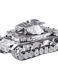 Недорогие -3D пазлы Металлические пазлы Для получения подарка Конструкторы Модели и конструкторы Танк Металл Розовый Игрушки