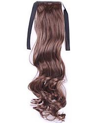 Kvinder Syntetiske parykker Lågløs Bølget Mørkebrun #3 Mellembrun #6 #8 kostume Parykker