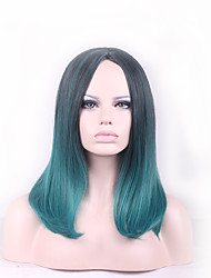 cheap -Best-selling Europe And The United States BOBO Wig Wig  Black Gradient Green
