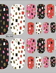 billige -1 stk nail art 3d klistermærker glitter tånegle stickers 22 at holde varmt stempling af en række