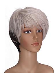 abordables -Mujer Pelucas sintéticas Corto Corte Recto Blanco Pelucas para Disfraz