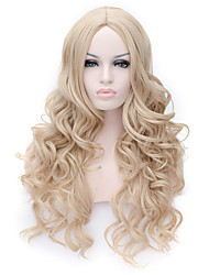 Capless Long Curly Blonde Color Top Quality Synthetic Wigs