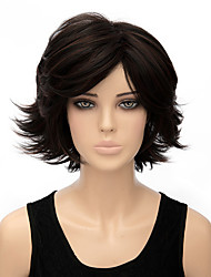 Woman's Light Black Color Curly Short Synthetic Wigs