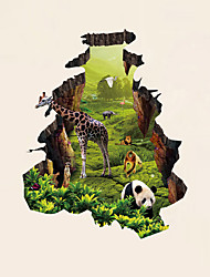3D Wall Stickers Wall Decals Style Pastoral Giraffe PVC Wall Stickers