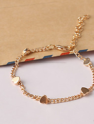 cheap -Women's New European Style Fashion Fresh Simple Heart Charm Bracelets Christmas Gifts